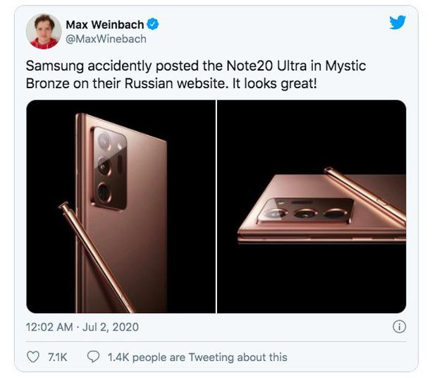 Samsung Galaxy Note 20 sẽ có giá gần 25 triệu đồng nhưng chỉ sở hữu mặt lưng nhựa? - Ảnh 1.