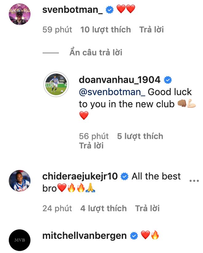 Đồng đội tại Heerenveen tạm biệt Văn Hậu, khen hậu vệ Việt Nam là cầu thủ hay nhất - Ảnh 2.