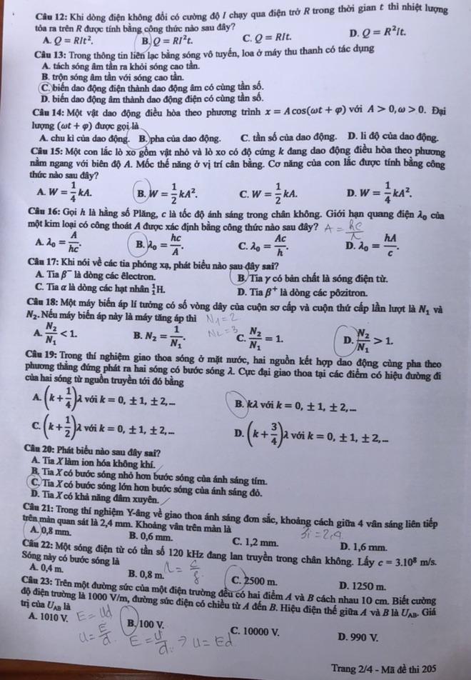 [CẬP NHẬT] Đáp án tất cả các mã đề môn Vật lý kỳ thi tốt nghiệp THPT Quốc gia năm 2020 - Ảnh 5.