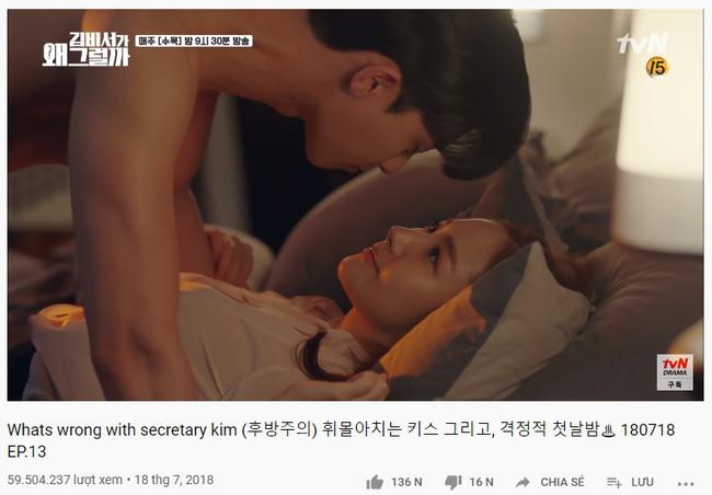 Cảnh hôn gây đỏ mặt của Park Seo Joon - Park Min Young trong phim Thư ký Kim đạt 100 triệu view, fan réo gọi làm phần 2 - Ảnh 3.