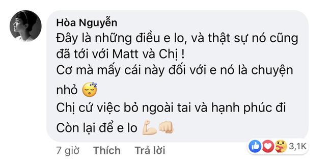 Chuyện tình Hương Giang - Matt Liu vừa bắt đầu đã vướng nhiều thị phi, Hòa Minzy nhắn nhủ điều này - ảnh 1