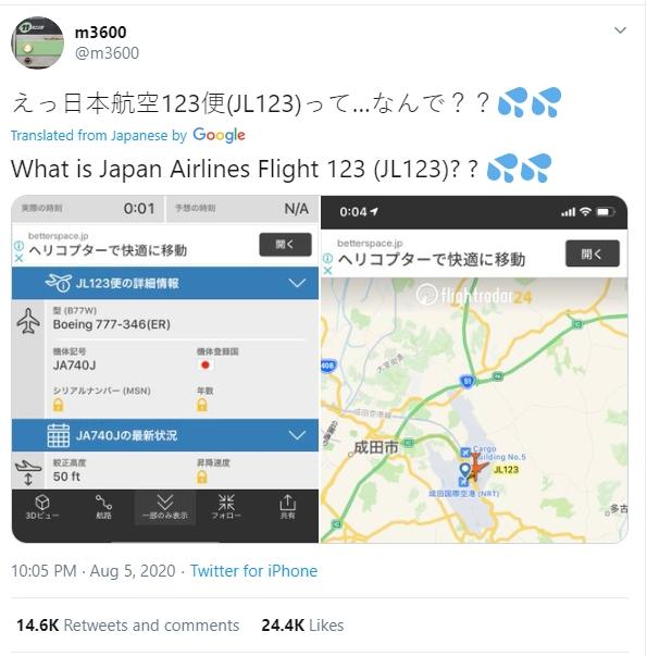 Chiếc máy bay gặp nạn 35 năm về trước khiến hơn 500 người chết bất ngờ xuất hiện trở lại làm dân Nhật hoang mang - Ảnh 1.