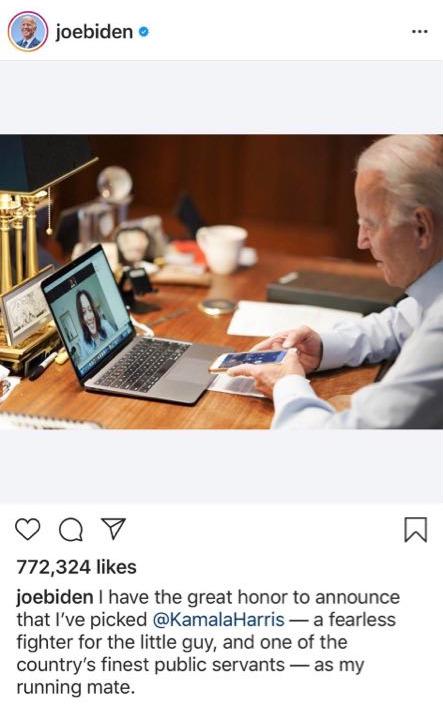 Bức ảnh ông Biden gọi điện được gần 800.000 lượt thích: Mọi người chỉ chú ý một thứ trên bàn - Ảnh 1.