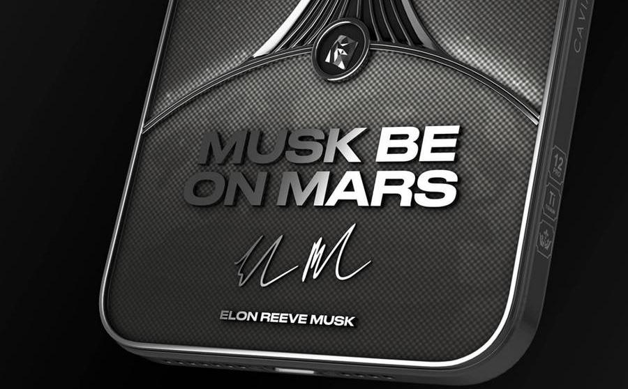"""Caviar cho đặt hàng trước iPhone 12 Pro phiên bản đặc biệt """"Musk Be on Mars"""""""