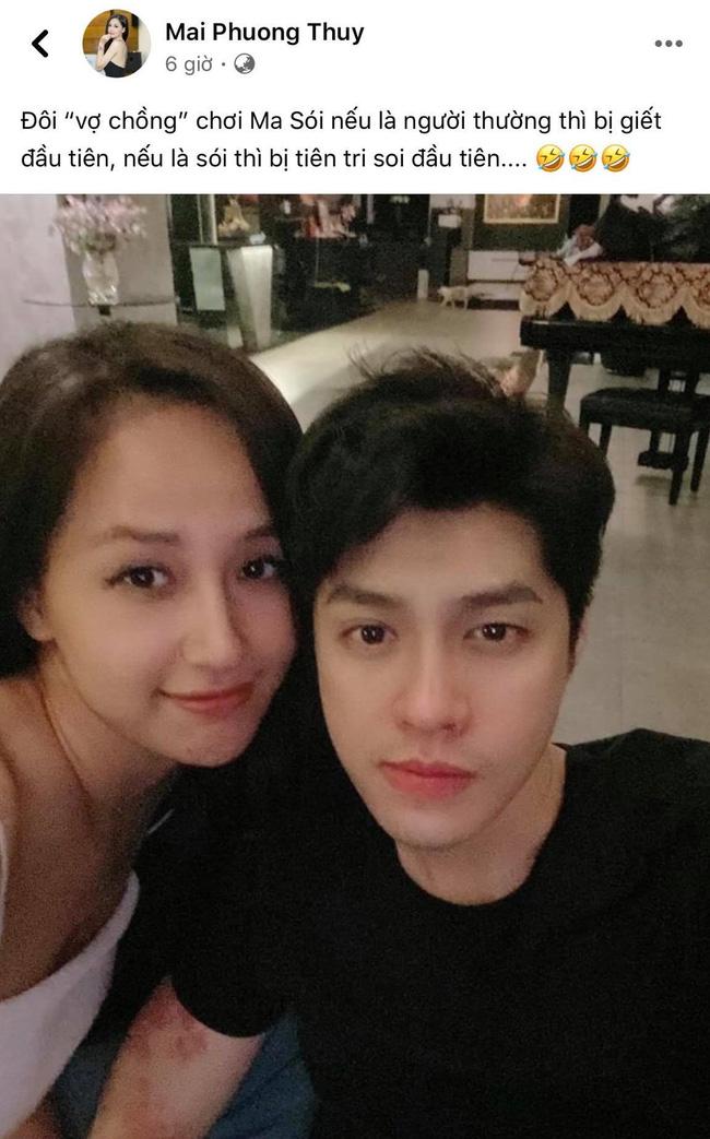 Mai Phương Thúy và Noo Phước Thịnh đánh úp nửa đêm, cùng đăng ảnh tình tứ và gọi nhau là vợ chồng - ảnh 1