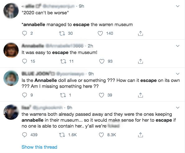 Thực hư thông tin búp bê Annabelle đột ngột biến mất khỏi bảo tàng khiến dân mạng lo sốt vó, sợ bị tìm đến gây xôn xao MXH vài giờ qua - Ảnh 2.