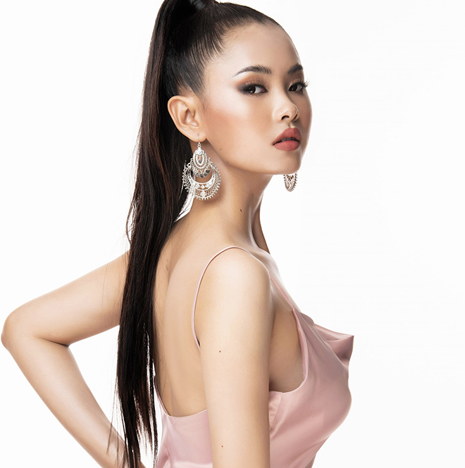 Nhan sắc của cô gái có mái tóc dài gần 1 mét dự thi Hoa hậu Việt Nam 2020 - Ảnh 9.