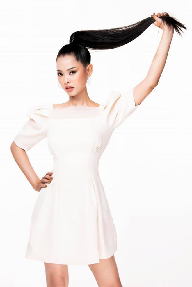 Nhan sắc của cô gái có mái tóc dài gần 1 mét dự thi Hoa hậu Việt Nam 2020 - Ảnh 4.