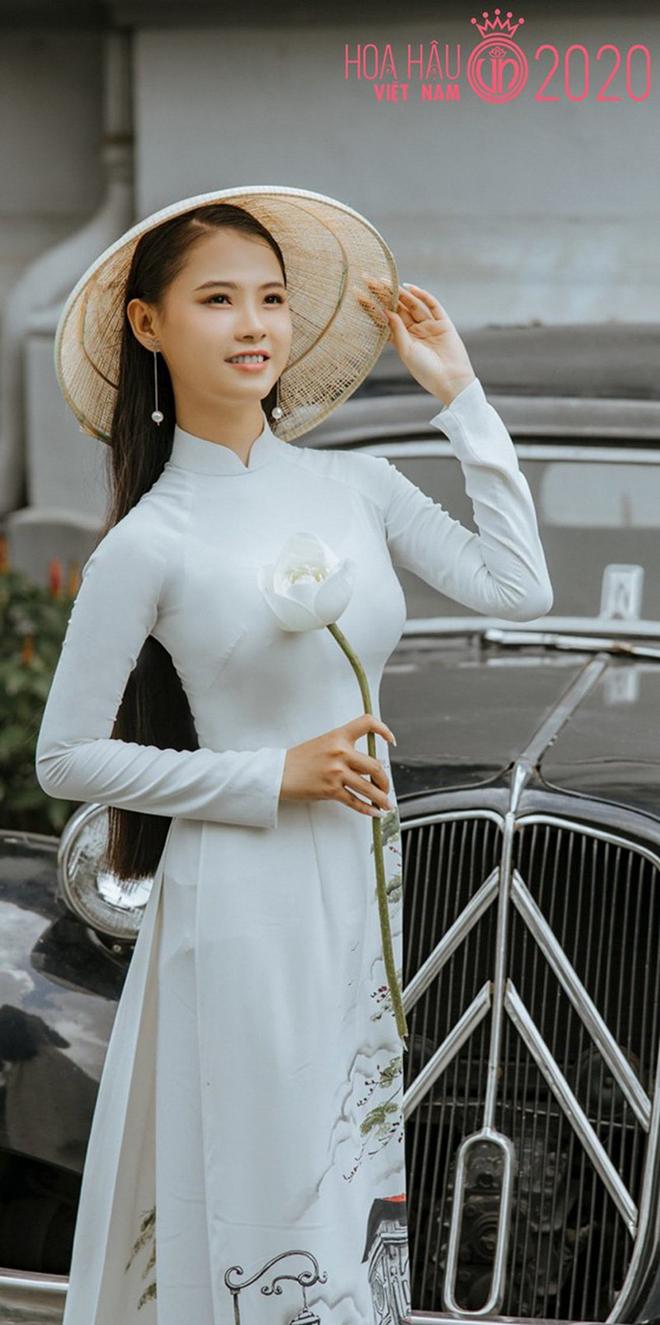 Nhan sắc của cô gái có mái tóc dài gần 1 mét dự thi Hoa hậu Việt Nam 2020 - Ảnh 1.