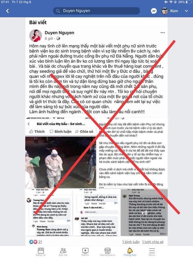 Xử lý chủ tài khoản facebook đăng tải thông tin sai sự thật - Ảnh 1.