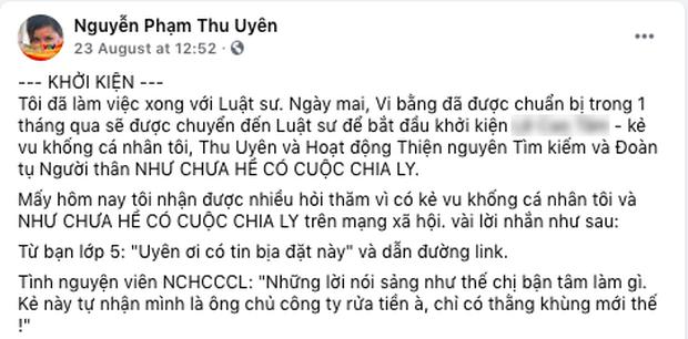 MC Thu Uyên chính thức khởi kiện vì bị vu khống ăn chặn tiền tài trợ, khiến Như Chưa Hề Có Cuộc Chia Ly dừng phát sóng sau 13 năm - Ảnh 3.