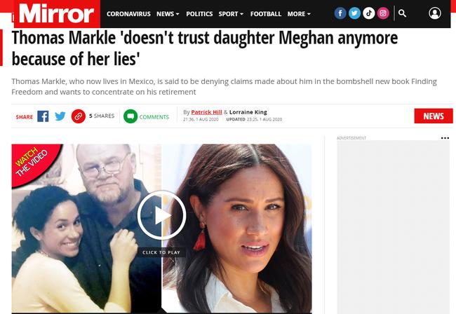 Cha đẻ Meghan Markle từ bỏ việc gặp lại con gái vì giờ đây, nữ Công tước nhà Sussex chỉ toàn nói lời dối trá - Ảnh 1.