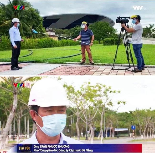 Hậu trường phỏng vấn thời Covid của phóng viên VTV: Đeo kính chống giọt bắn cẩn thận, quấn khẩu trang cả mic - ảnh 1