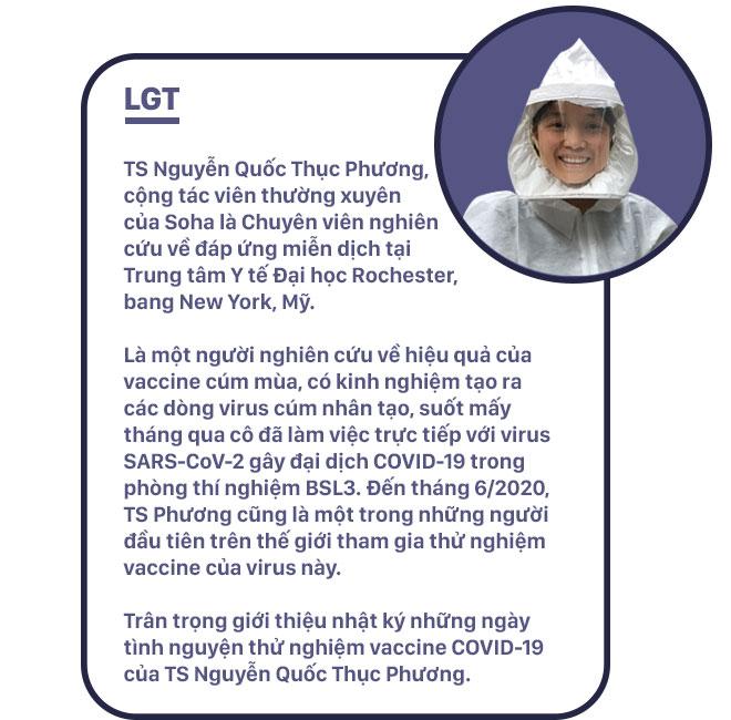 Nhật ký của nữ Tiến sĩ người Việt - người tạo ra virus Cúm nhưng là 1 trong số người đầu tiên tiêm thử vaccine Covid-19 trên thế giới - Ảnh 1.