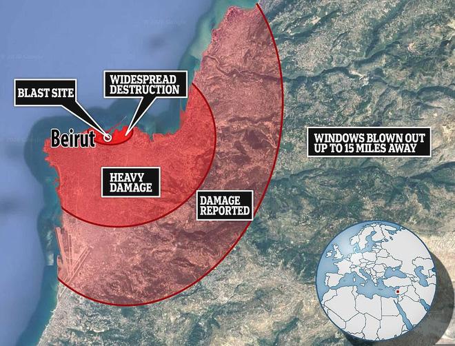 Vụ nổ cực lớn ở Li-băng: Nga công bố ảnh vệ tinh gây sốc - Ảnh 8.