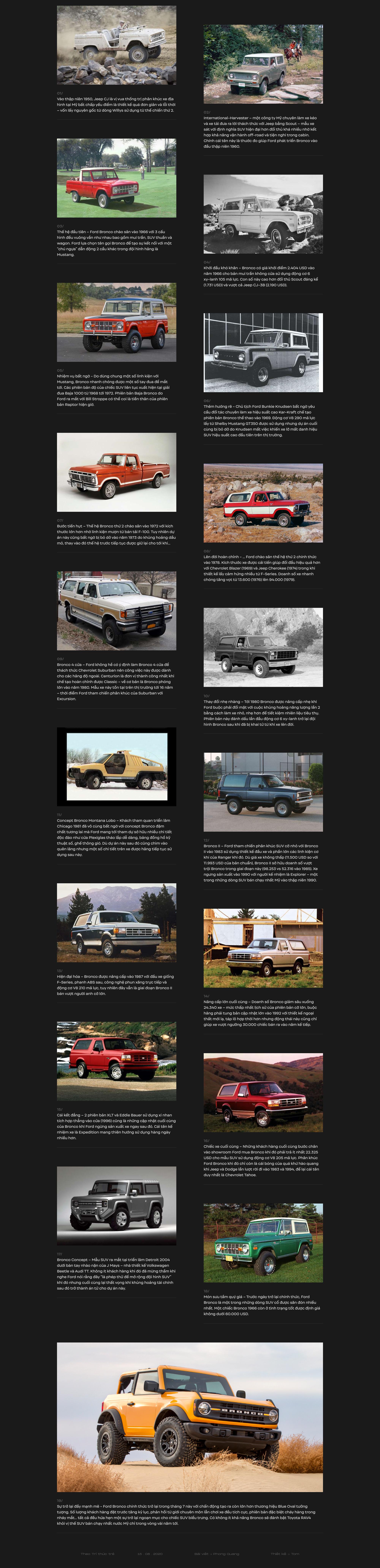 Hành trình của 'ngựa hoang' Ford Bronco: Từ huy hoàng tới quan hệ ít biết với Explorer, Ranger rồi sụp đổ và hồi sinh thành bom tấn - Ảnh 1.