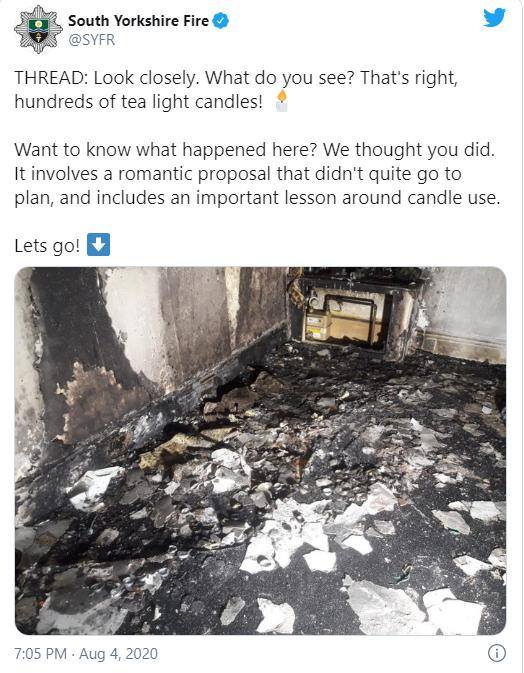Chàng trai thắp nến rồi phóng xe chở bạn gái đến để cầu hôn, tưởng lãng mạn nào ngờ cháy cả ngôi nhà nhưng vẫn được dân mạng chúc mừng - Ảnh 3.
