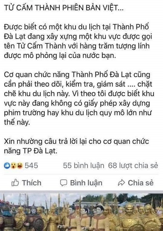 Lâm Đồng: Sẽ không cấp phép trưng bày tượng binh lính trong khu du lịch Quỷ Núi - Ảnh 3.