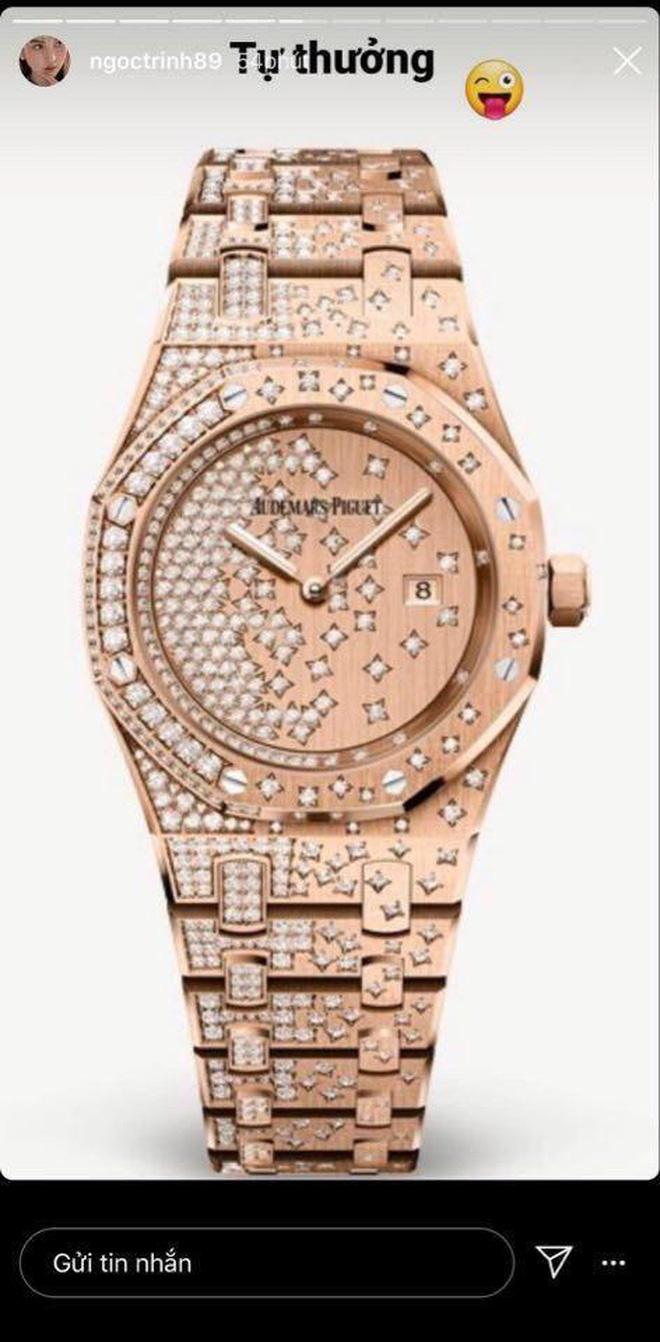Choáng với bộ sưu tập đồng hồ tiền tỷ của Nữ hoàng nội y Ngọc Trinh - Ảnh 2.