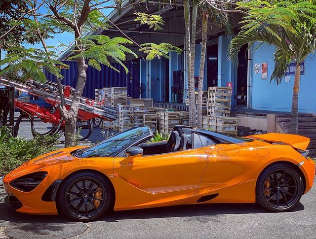 McLaren 720S Spider thứ 7 về Việt Nam cập bến Sài Gòn, nằm trong garaga toàn siêu xe gây chú ý - Ảnh 6.