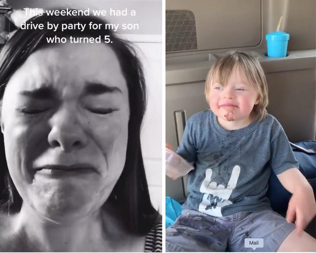 Bày tiệc sinh nhật cho con bị bệnh Down nhưng chỉ có 1 bạn đến dự, bà mẹ quay clip khóc ròng vì thương con thu hút 7 triệu lượt xem - Ảnh 1.