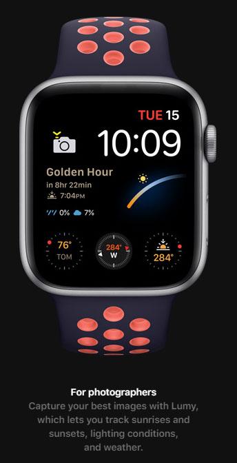 Apple Watch Series 6 trang bị tính năng mới, giúp thông báo giờ vàng cho các nhiếp ảnh gia - Ảnh 2.