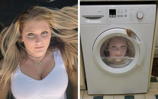 Nhờ chỉnh ảnh trông như nằm trên nước, cô gái được cho luôn vào máy giặt và những người có chung cảnh ngộ khi lỡ tìm đến thánh photoshop thích đùa - Ảnh 1.