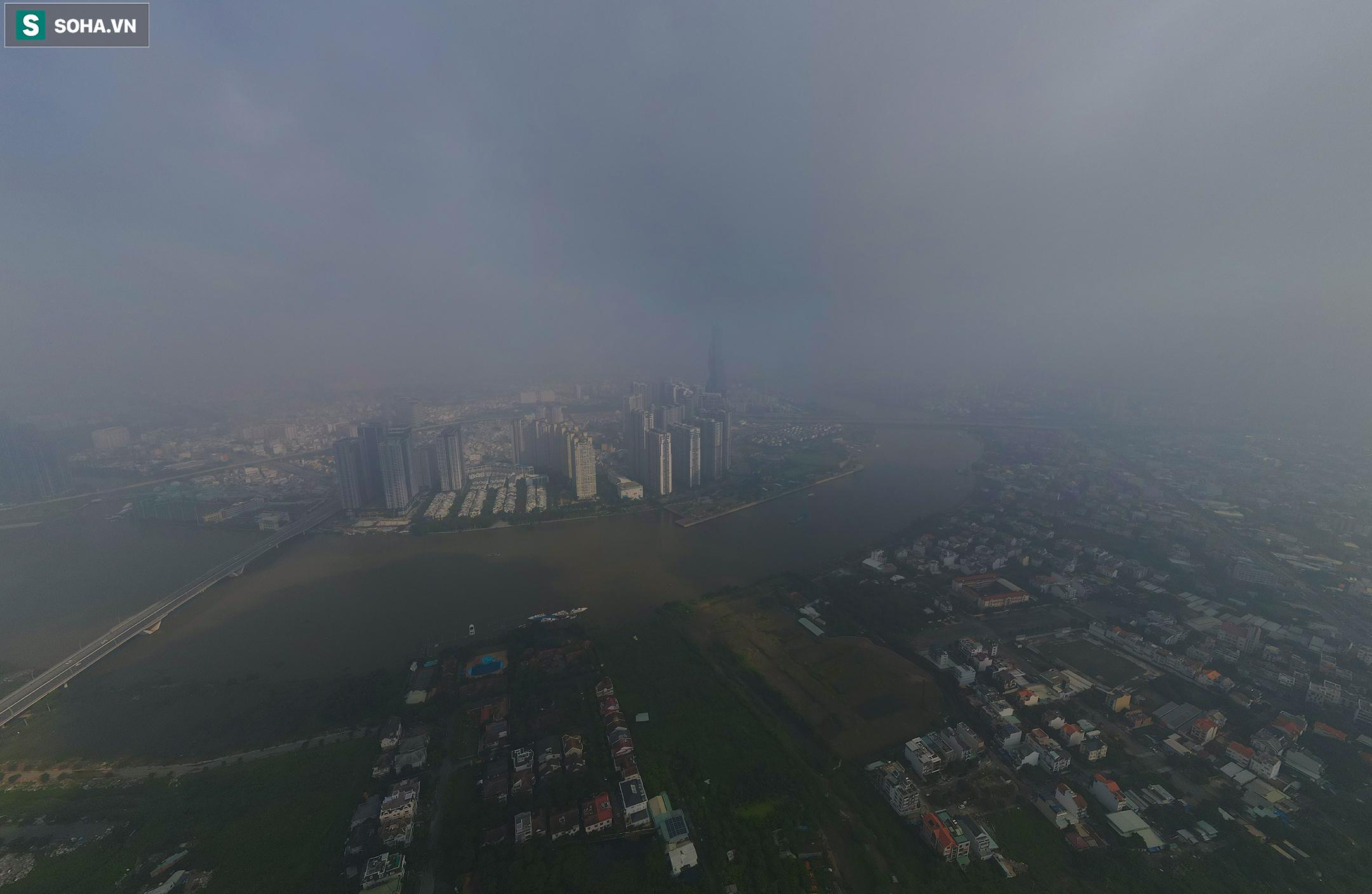 [Ảnh] Chất lượng không khí báo động đỏ, nhiều toà cao ốc ở TP.HCM bất ngờ biến mất trong sáng đầu tuần - Ảnh 6.