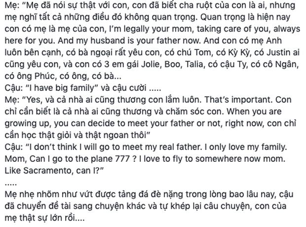 """Thanh Thảo hé lộ phản ứng bất ngờ của bé Jacky khi nhắc về Ngô Kiến Huy: """"Con không muốn khóc, con nghĩ sẽ không gặp lại ba ruột"""" - Ảnh 4."""