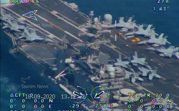 """Iran công bố ảnh """"chộp"""" tàu sân bay Mỹ ở eo biển Hormuz"""