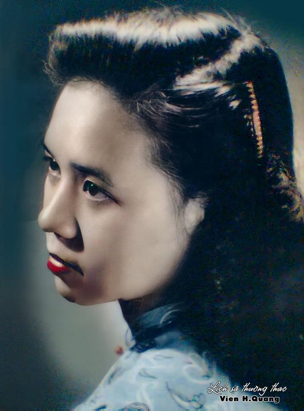 Bức ảnh của hoa khôi trường Dược Hà Nội 1955 được phục chế gây bão, soi ra profile càng nể phục - Ảnh 3.