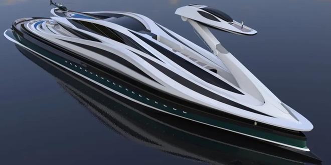 Siêu du thuyền 500 triệu USD này lấy cảm hứng từ anime và có thiết kế trông như một chú thiên nga - Ảnh 14.