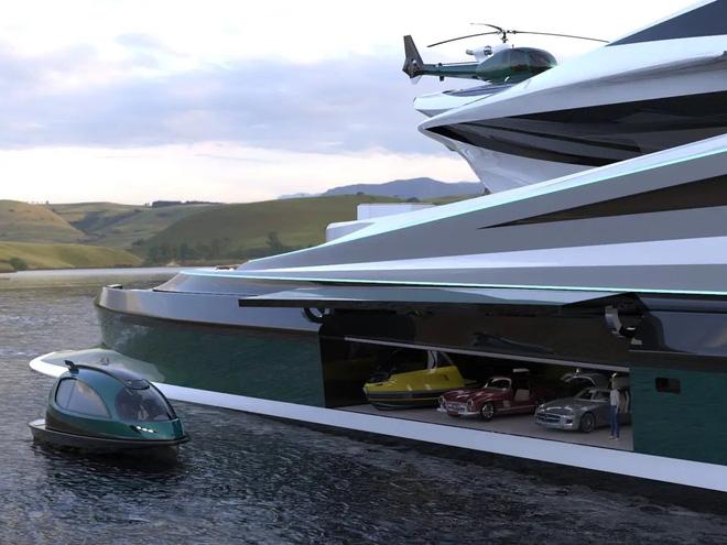 Siêu du thuyền 500 triệu USD này lấy cảm hứng từ anime và có thiết kế trông như một chú thiên nga - Ảnh 6.