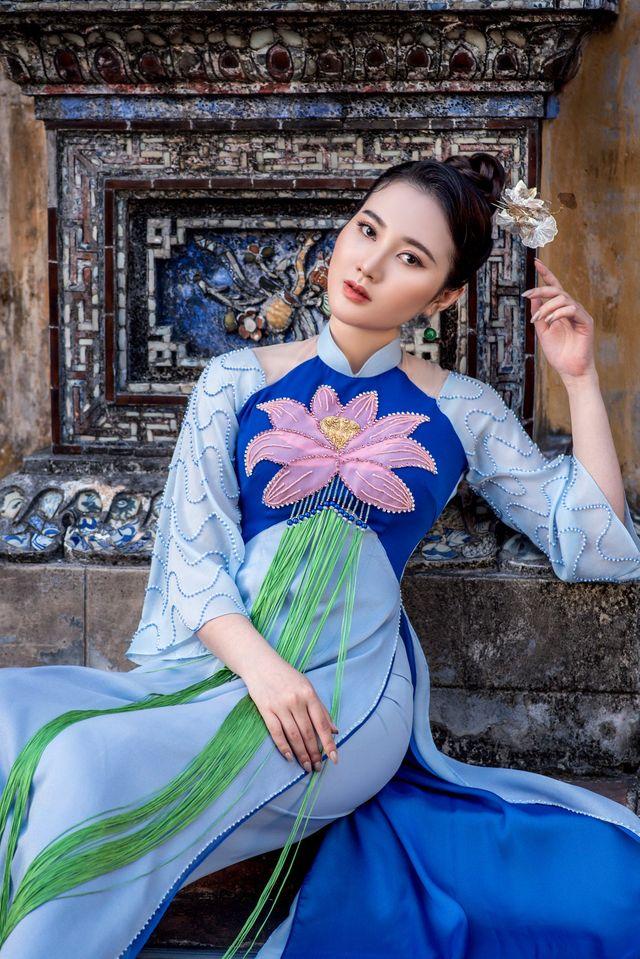 Mỹ nhân có mái tóc đẹp nhất Hoa hậu Việt Nam 2016 duyên dáng trong tà áo dài - Ảnh 9.