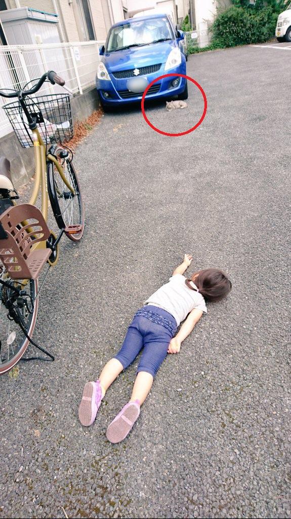 Xót xa bức ảnh bé gái nằm sõng soài trên đường nhưng câu chuyện thật đằng sau lại khiến bao người thay đổi thái độ - Ảnh 3.