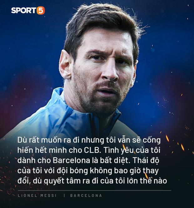 Chả ai yêu Barca bằng thứ tình yêu lạ lùng như anh cả, Messi ạ! - Ảnh 1.
