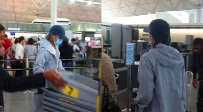Sau ồn ào nợ nần Châu Tinh Trì một mình ra sân bay không có trợ lý hay người thân đi cùng - Ảnh 1.