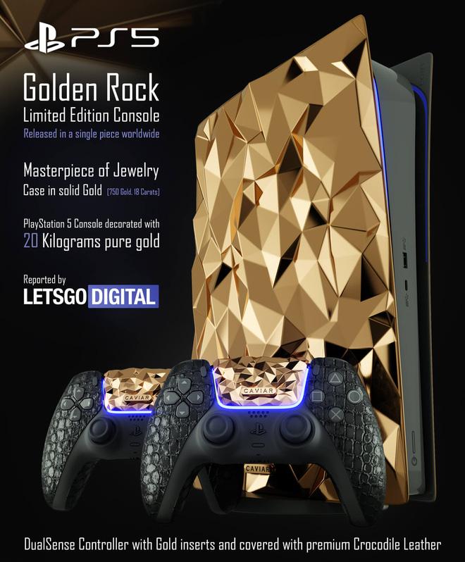 Có nhiều tiền, mua gì để giải trí dịp Tết: PS5 bản đặc biệt phủ 30kg vàng, bọc da cá sấu, giá bán 41 tỷ đồng - Ảnh 1.