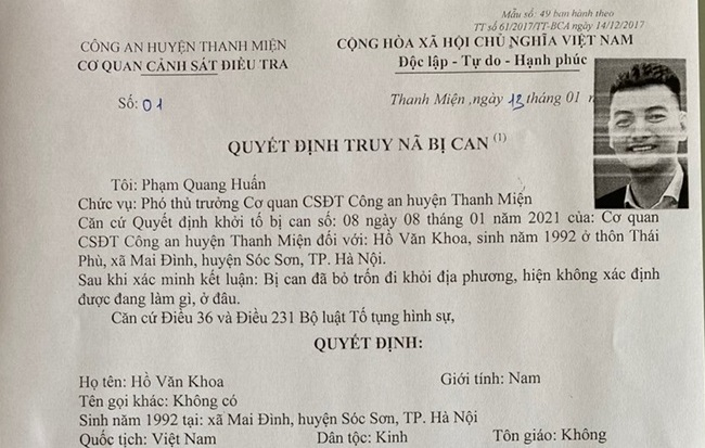 """Truy nã kẻ nổ súng bắn vào chiếc xe của """"thánh chửi"""" Dương Minh Tuyền - Ảnh 1."""