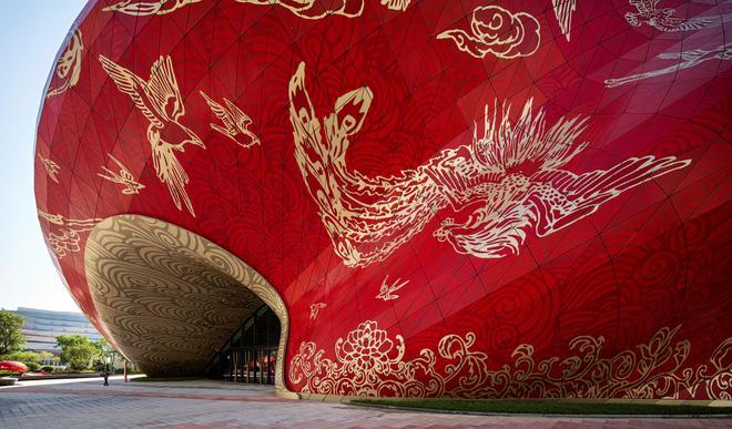 Công trình kiến trúc xấu nhất Trung Quốc khiến dân mạng cười mệt: Vừa lòe loẹt gây nhức mắt lại u ám hệt như lối vào cõi âm - Ảnh 7.