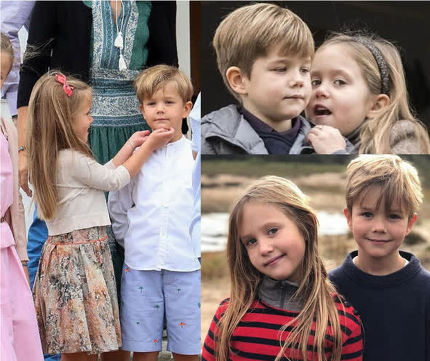 Cặp song sinh Hoàng gia Đan Mạch gây sốt MXH với màn lột xác ở tuổi lên 10, độ hot không thua kém Hoàng tử Công chúa nước Anh - Ảnh 7.