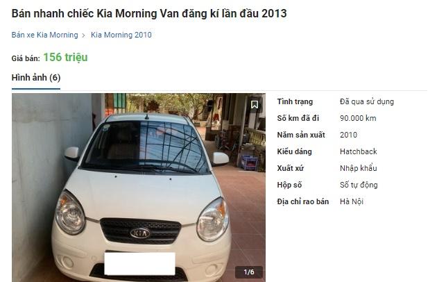 Kia Morning bán rẻ cuối năm lấy xe chạy Tết, có chiếc rẻ ngang Honda SH giá 135 triệu đồng - Ảnh 1.