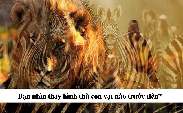 Bạn nhìn thấy hình thù con vật nào trước tiên? Người có tố chất lãnh đạo sẽ thấy con gì?
