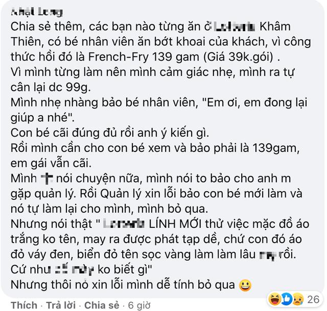 Chuỗi nhà hàng gà rán nổi tiếng ở Hà Nội liên tiếp bị tố thái độ phục vụ tệ kinh khủng của nhân viên, nói bậy khi đáp lời khách, mặt đâm lê, xưng xỉa - Ảnh 4.