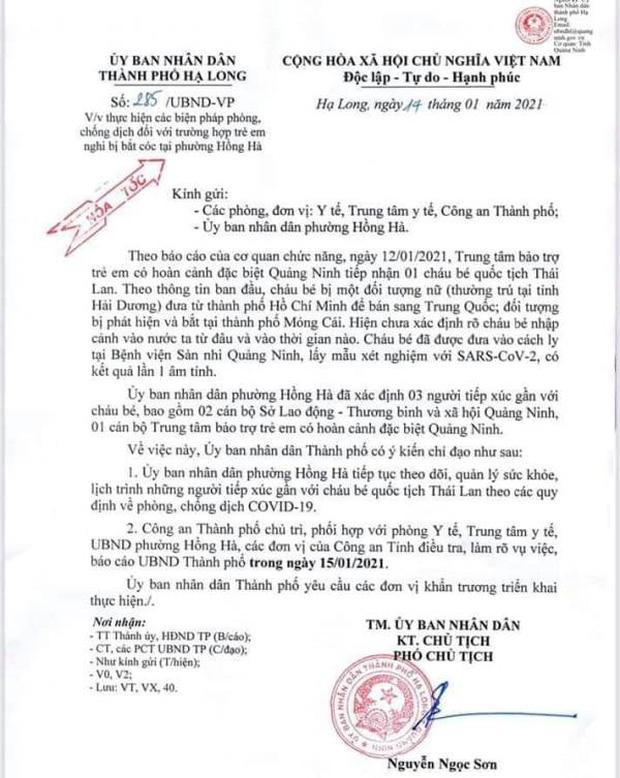 Cháu bé 8 tháng tuổi ở Quảng Ninh nghi bị một phụ nữ quê Hải Dương bắt cóc - Ảnh 2.