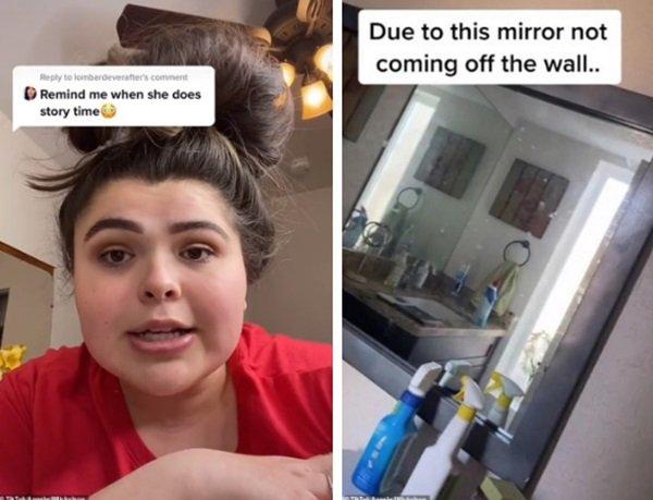 Chuyển đến nhà mới, cô gái hoảng hốt phát hiện bí mật rợn người đằng sau tấm gương nhà tắm - Ảnh 2.