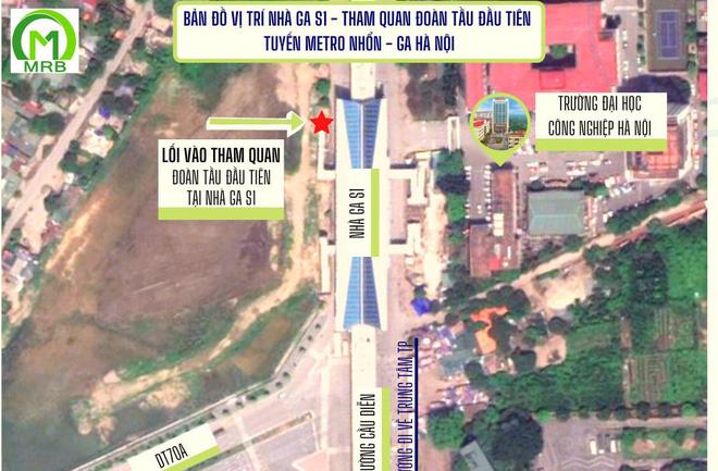 Mở cửa cho người dân tham quan đoàn tàu đường sắt đô thị Nhổn - ga Hà Nội - Ảnh 1.