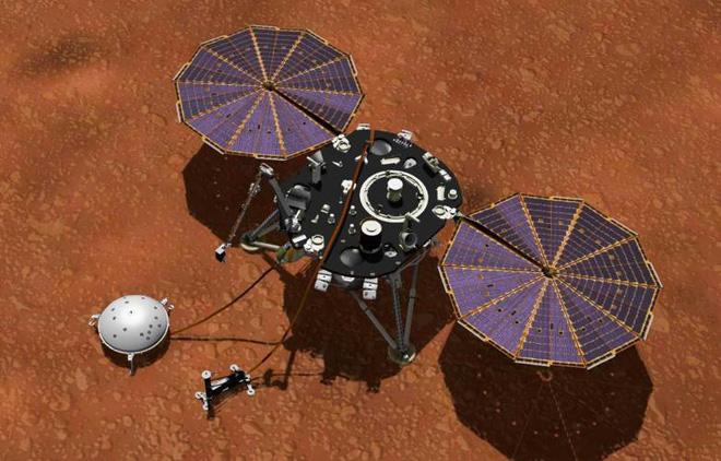 Bề mặt sao Hỏa quá cứng khiến công cụ đào đất của NASA thất bại thảm hại - Ảnh 1.