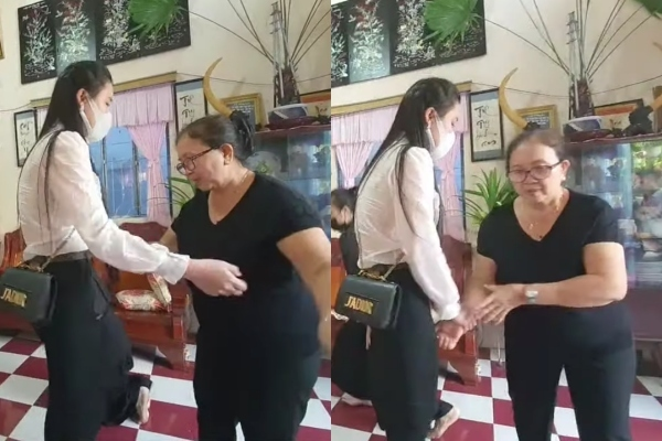Linh Lan khóc lóc xin lỗi, mẹ Vân Quang Long phủi tay bỏ đi, vợ cũ ứng xử bất ngờ - Ảnh 3.