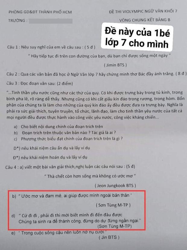 Sơn Tùng - Hải Tú bị réo tên cả trong đề thi tiếng Anh của học trò: Thầy cô bắt trend nhanh thế này ai làm lại? - Ảnh 4.